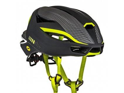 helma RH+ Lambo MIPS, matt black/matt carbon/yellow fluo, AKCE