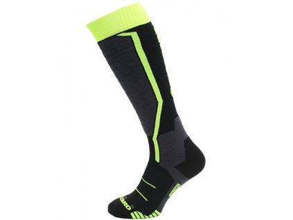 lyžařské ponožky BLIZZARD Allround ski socks junior, black/anthracite/signal yellow