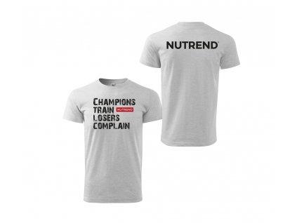 Pánské triko šedé - motivation