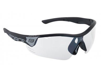 brýle FORCE RACE PRO černé, fotochromatická skla
