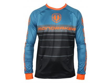 dres MONDRAKER Enduro/Trail Jersey long, black/petroleum/orange