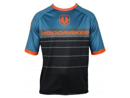 dres MONDRAKER Enduro/Trail Jersey short, black/petroleum/orange