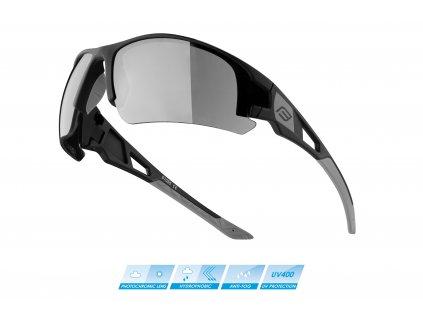 brýle FORCE CALIBRE černé, fotochrom. skla