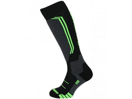 lyžařské ponožky BLIZZARD Allround wool ski socks, black/anthracite/green