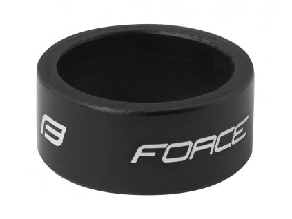 """podložka FORCE 1 1/8"""" AHEAD 15 mm Al, černá"""