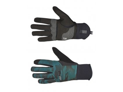 Pánské rukavice Northwave Power 3 Gel Full Gloves Black/Green