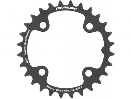 Stronglight CT2 MTB SRAM Chainring 10 speed 4 Arm 80 mm BCD black 28 tooth 55570 172883 1486140012