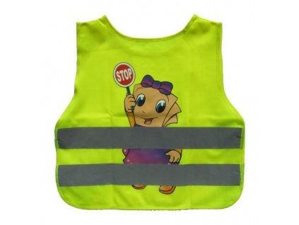 Reflexní vesta dětská, žlutá