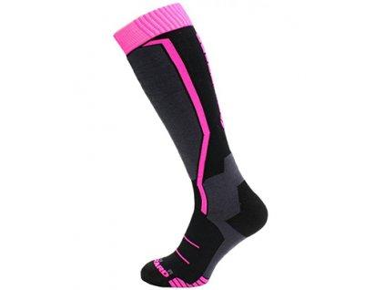 lyžařské ponožky BLIZZARD Viva Allround ski socks, black/anthracite/magenta