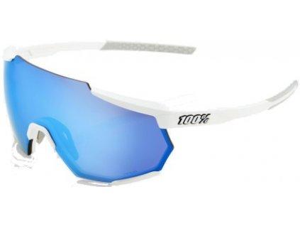 100% Brýle Racetrap - Matte White / HiPER Blue Multilayer Mirror Lens