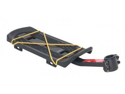 nosič FORCE na sedlovku 25,0-31,6mm Al/plast, črn