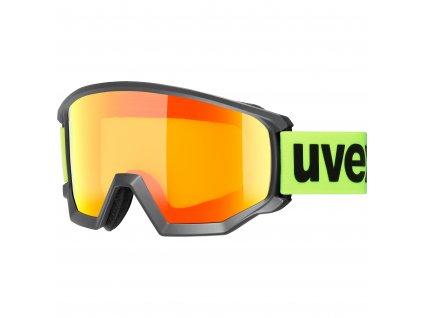 lyžařské brýle UVEX ATHLETIC CV, black mat/orange-storm (3030)