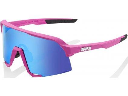 100% BRÝLE S3 Soft Tact Pink Hiper blue Multilayer