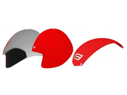 plasty k přilbě  FORCE GLOBE sada 3 ks, červené