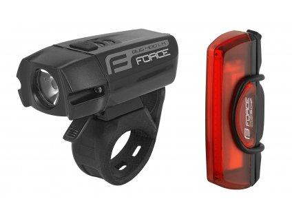 světla sada FORCE GLARE USB přední+zadní