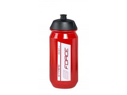 láhev FORCE STRIPE 0,5 l, červeno-bílá