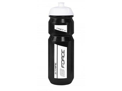 láhev FORCE STRIPE 0,75 l, černo-bílá