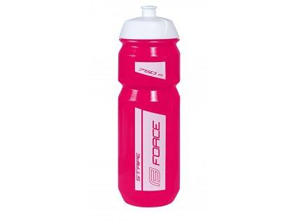 láhev FORCE STRIPE 0,75 l, růžovo-bílá