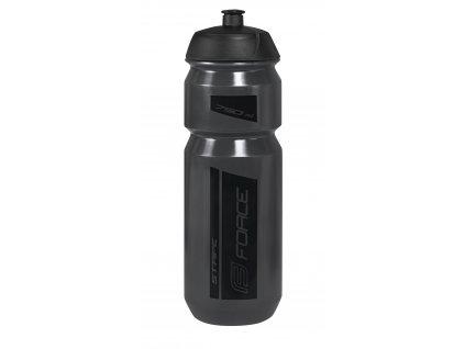 láhev FORCE STRIPE 0,75 l,transparentní tmavě šedá