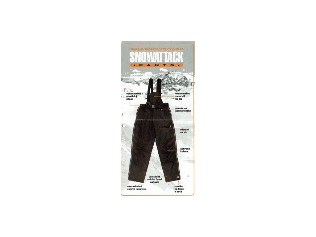 Lyžařské kalhoty RVC SNOWATTACK  XL černé