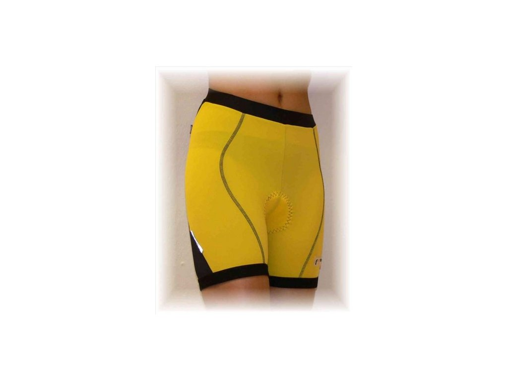 FABIAN cyklo kalhoty do pasu černé XL