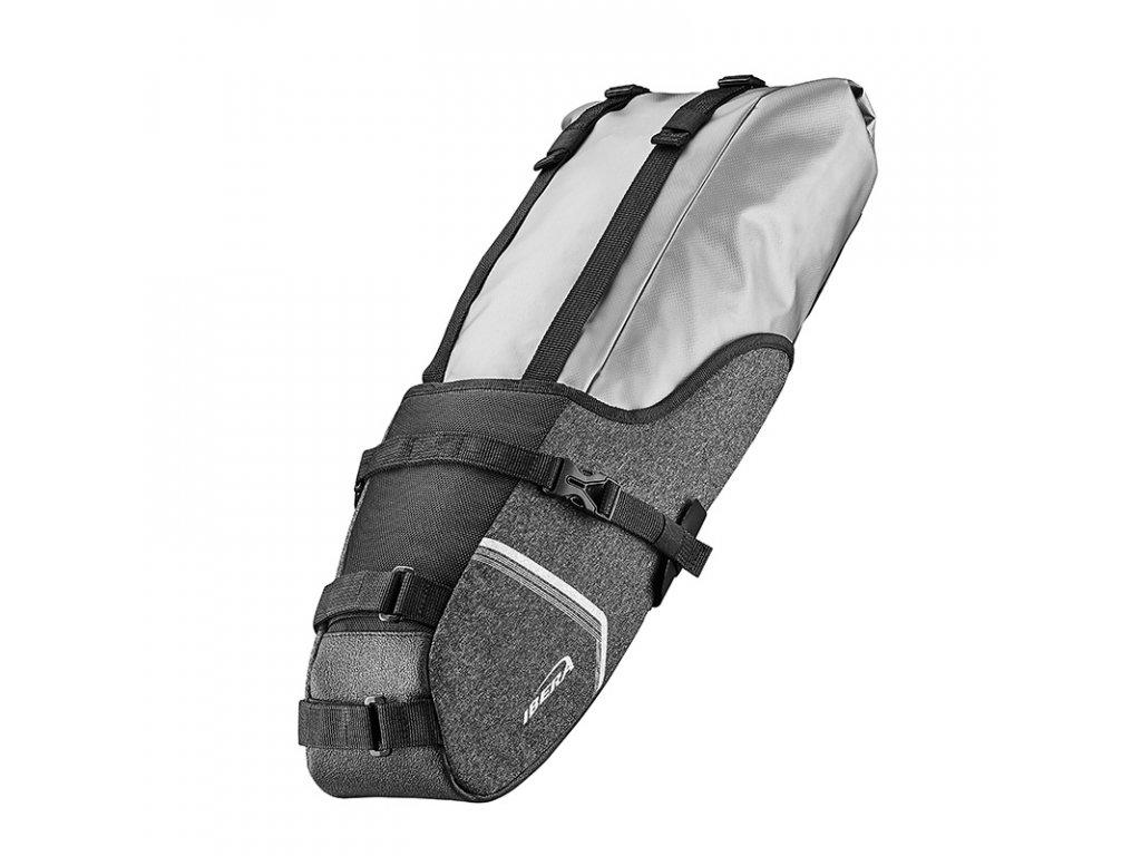Brašna pod sedlo Ibera IB-SB20 SeatPak Carryall stříbrná