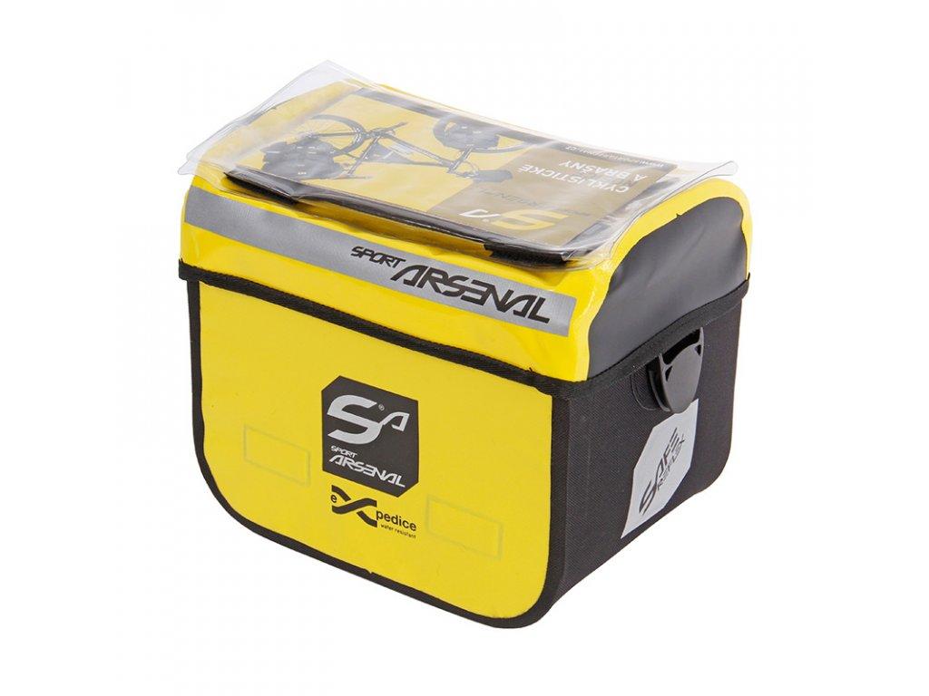 Brašna Arsenal 310 na řidítka vodotěsná žlutá
