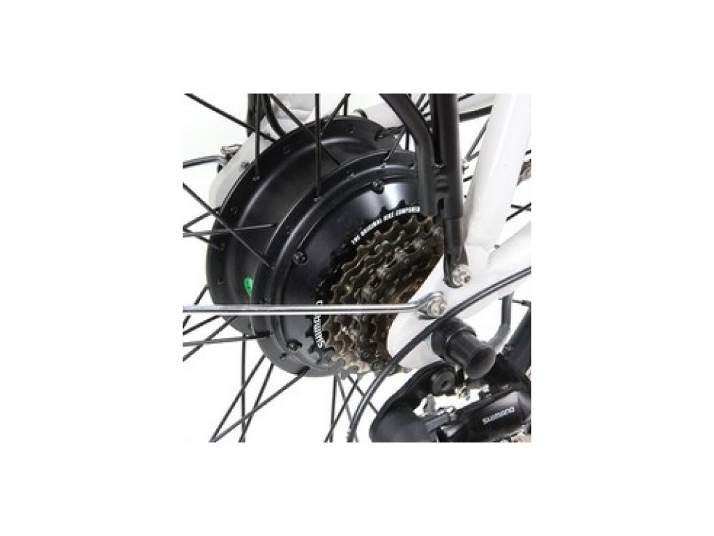 Elektrosada Apache Basic se zadním motorem 26 volnokolečko V-brzdy baterie rámová R7 13 Ah