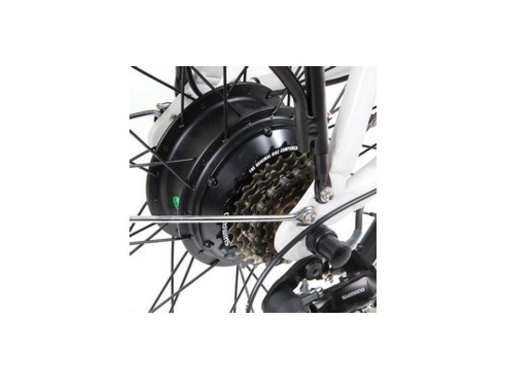 Elektrosada Apache Basic se zadním motorem 28/29 volnokolečko V-brzdy baterie rámová R7 16 Ah
