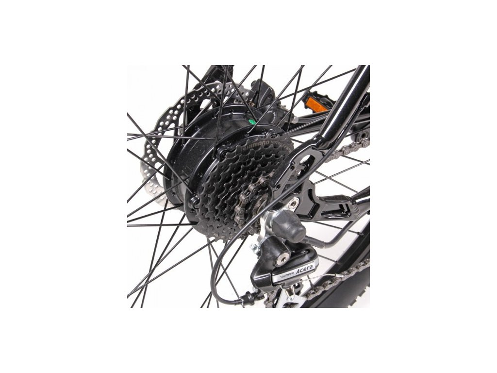 Elektrosada Apache Silent se zadním motorem 27,5 kazeta disc brzdy baterie rámová R7 16 Ah