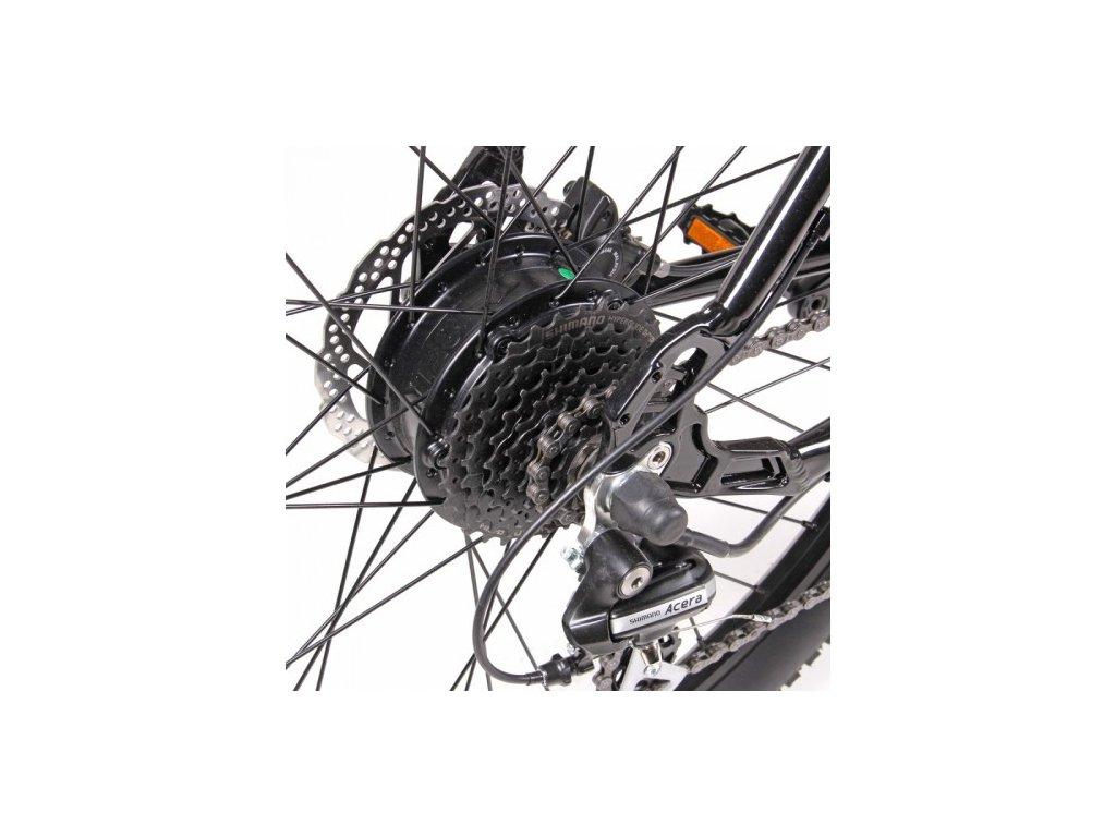 Elektrosada Apache Silent se zadním motorem 27,5 kazeta disc brzdy baterie nosičová 13 Ah