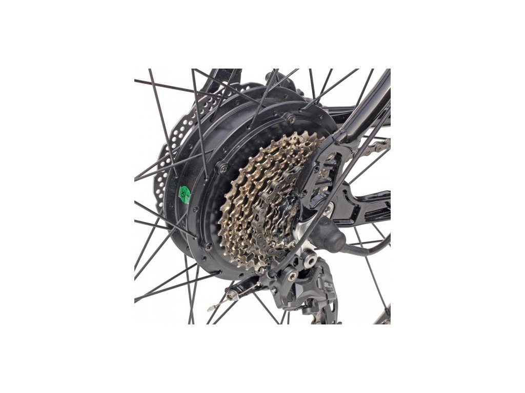 Elektrosada Apache Silent se zadním motorem 27,5 kazeta disc brzdy baterie nosičová 16 Ah