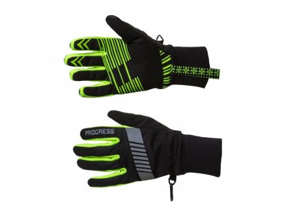 rukavice Progress SNOWSPORT GLOVES černo/reflexní žluté