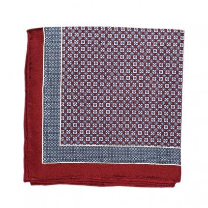 Modrovínový hedvábný kapesníček