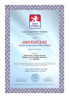 Osvědčení - český výrobek