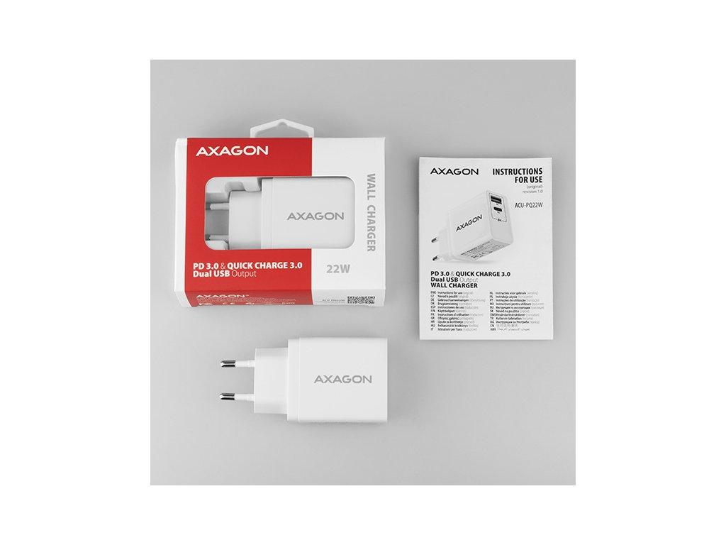 Nabíječka Axagon ACU QS24, USB, 2 x port