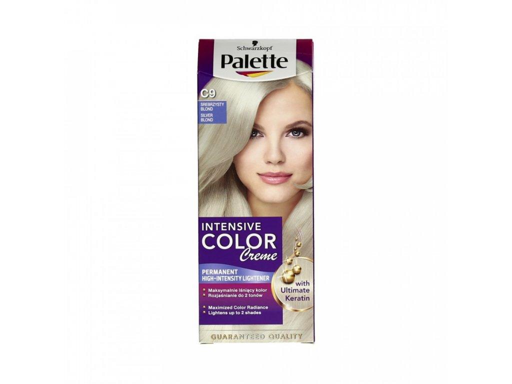 Palette Intensive Color Creme barva na vlasy stříbřitě plavý C9