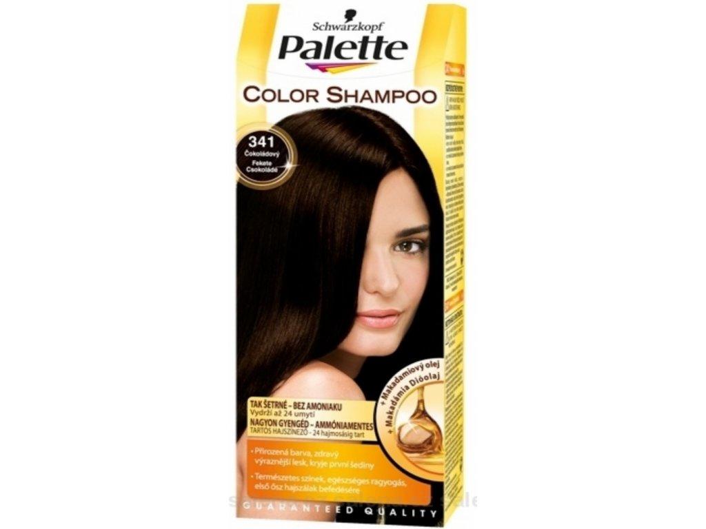 Palette Color Shampoo tónovací barva na vlasy 341 - Čokoládový