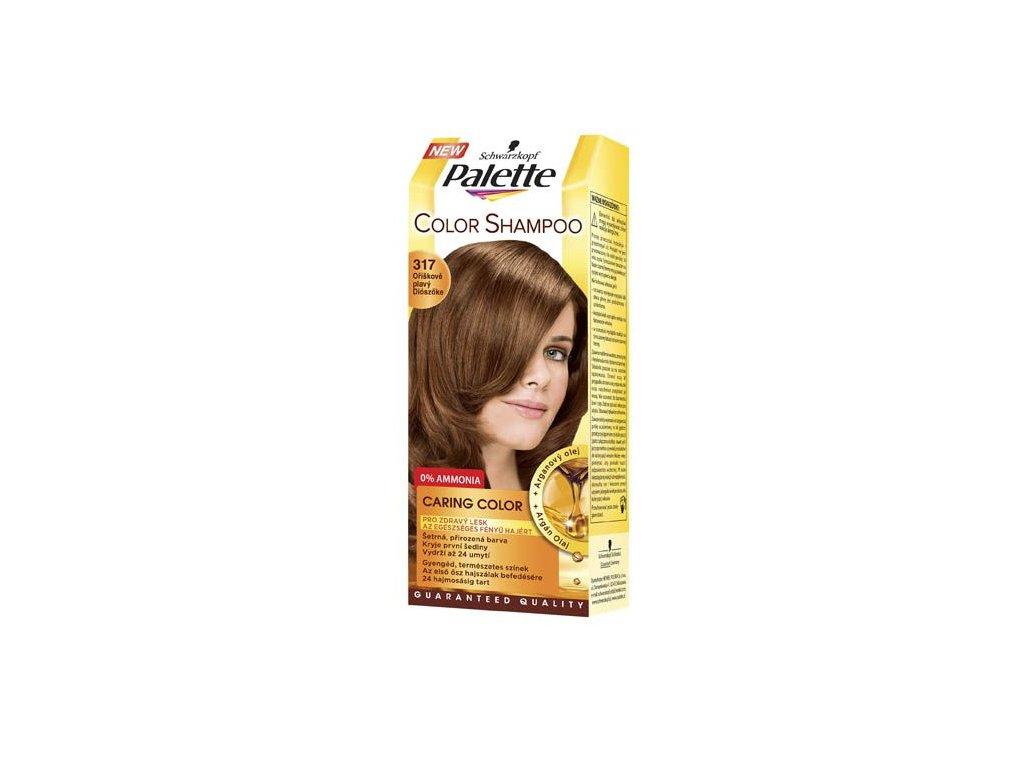 Palette Color Shampoo tónovací barva na vlasy 317 - oříškový