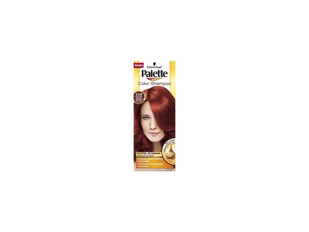 Palette Color Shampoo tónovací barva na vlasy 318 - červený
