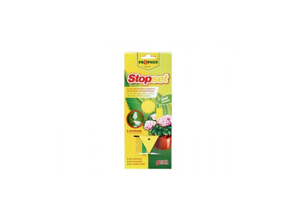 Stopset - žluté šipky 14x5 cm 5ks