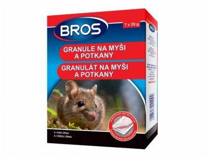 BROS granule na myši, krysy a potkany 7 x 20g