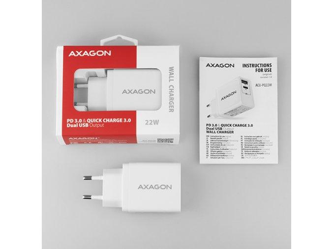 Nabíječka Axagon ACU QC5, USB, 2 x port