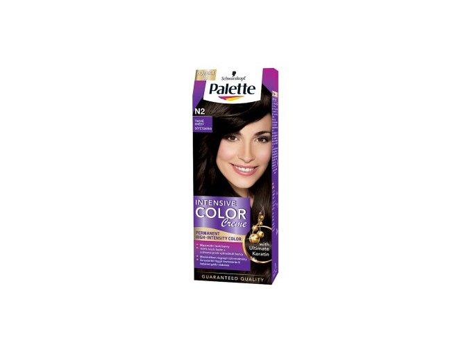 Palette Intensive Color Creme barva na vlasy tmavěhnědá N2