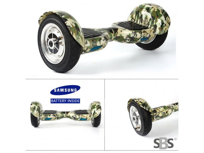 Kolonožka Hoverboard offroad Q10 ARMY (gyroboard, smart balance wheel) doprava zdarma / podobná vozítku mini segway