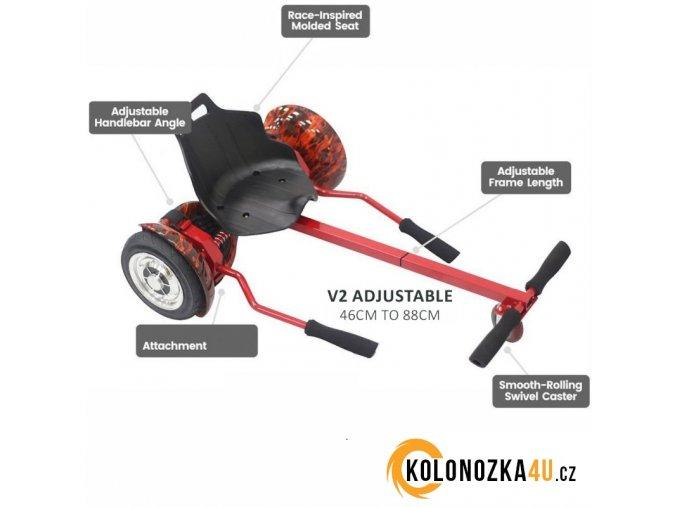 Hoverboard Buggy V2 - Hoverkart - rám se sedadlem (hovercart)