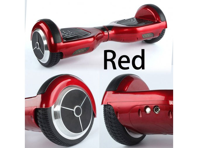 """Kolonožka Hoverboard Q3 7"""" červená (gyroboard, smart balance wheel) doprava zdarma AKCE / podobná vozítku mini segway.."""
