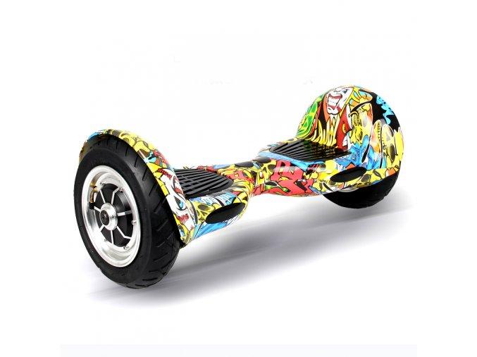 Kolonožka Hoverboard offroad Q10 Graffiti (gyroboard, smart balance wheel) doprava zdarma / podobná vozítku mini segway
