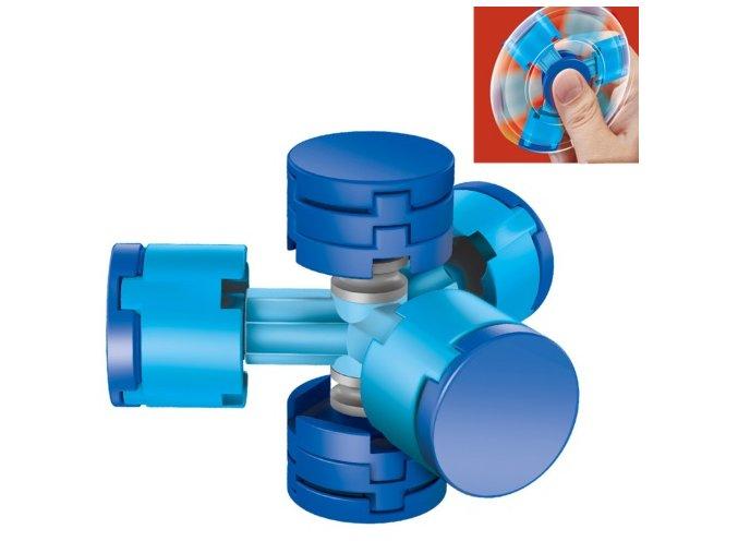 fidget spinner skladací modry