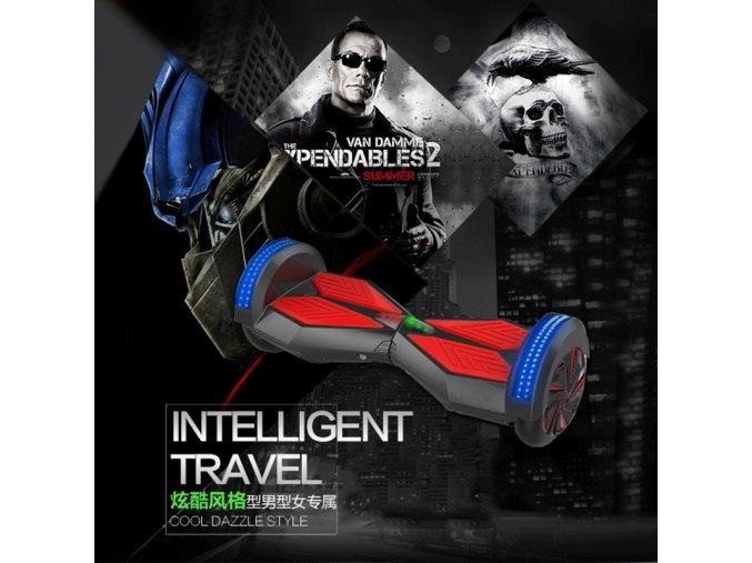 """Hoverboard Q5 Matrix Fialová s LED světly na blatnících 8"""" (gyroboard, smart balance wheel) doprava zdarma / podobná vozítku mini segway.."""
